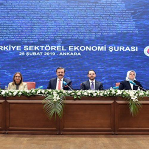 """""""TOBB Türkiye Sektörel Ekonomi Şurası"""" ve """"istihdam Seferberliği  2019 Tanıtım Toplantısı"""" yapıldı…"""