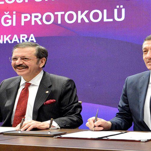 """Başkanımız Sn Yahya TOPLU, """"Mesleki Eğitim İş Birliği Protokolü İmza Töreni'ne katıldı…"""