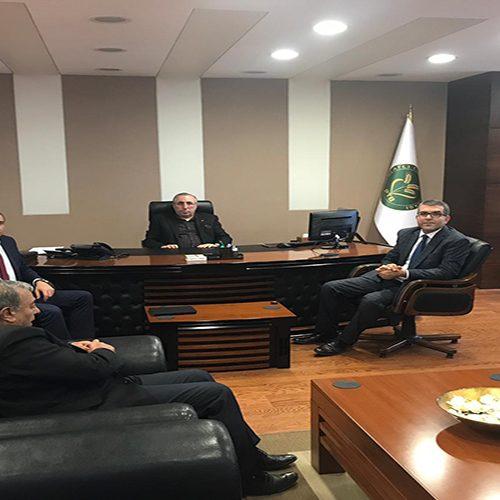 Yapı Kredi Bankası Şube Müdürü Sn Necmettin TOKSÖZ Başkanımız Sn Yahya TOPLU'yu Makamında ziyaret etti…