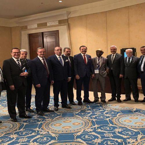 """Başkanımız Sn Yahya TOPLU Mısır'da düzenlenen """"Afrika için Birlikte Yatırım Forumu""""na katıldı…"""