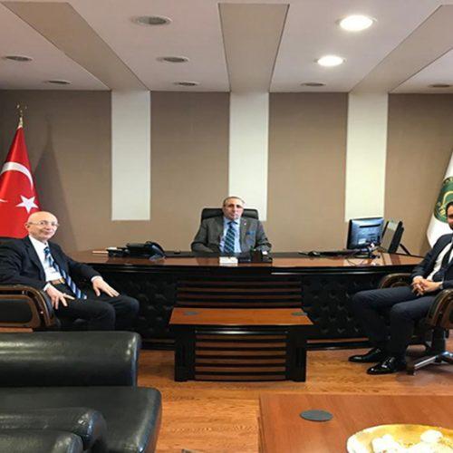 Ürün İhtisas Borsası Genel Müdürü Sn Ali KIRALİ Başkanımız Sn Yahya TOPLU'yu Makamında ziyaret etti…