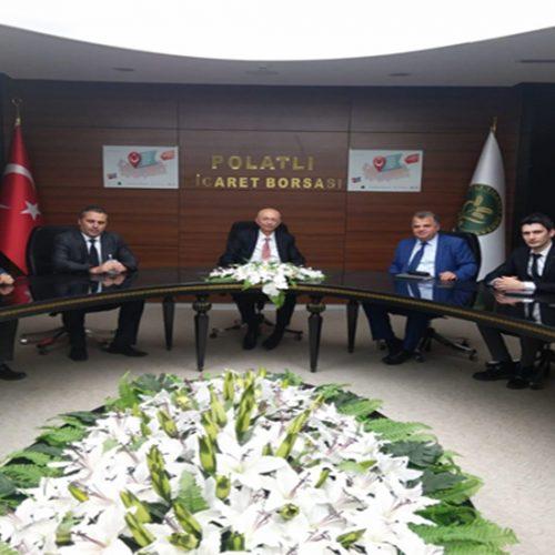 Ankara  Ticaret  Borsası  yetkilileri Borsamızı  ziyaret  etti..