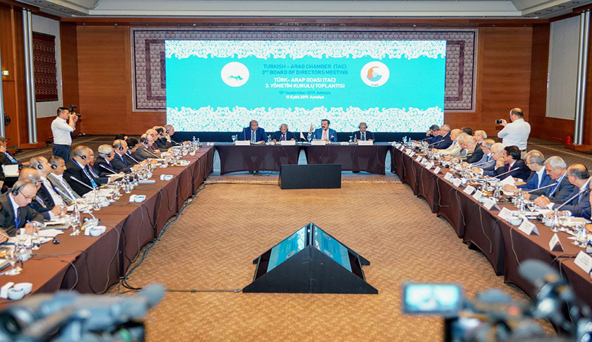 """Başkanımız Sn Yahya TOPLU """"Türk–Arap Odası (TAC) 3. Yönetim Kurulu Toplantısı""""na Katıldı…"""