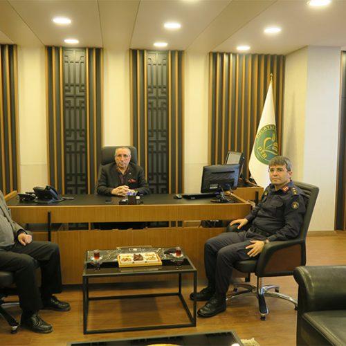 İlçe Jandarma Komutanı, Başkanımız Yahya TOPLU'yu Makamında ziyaret etti…