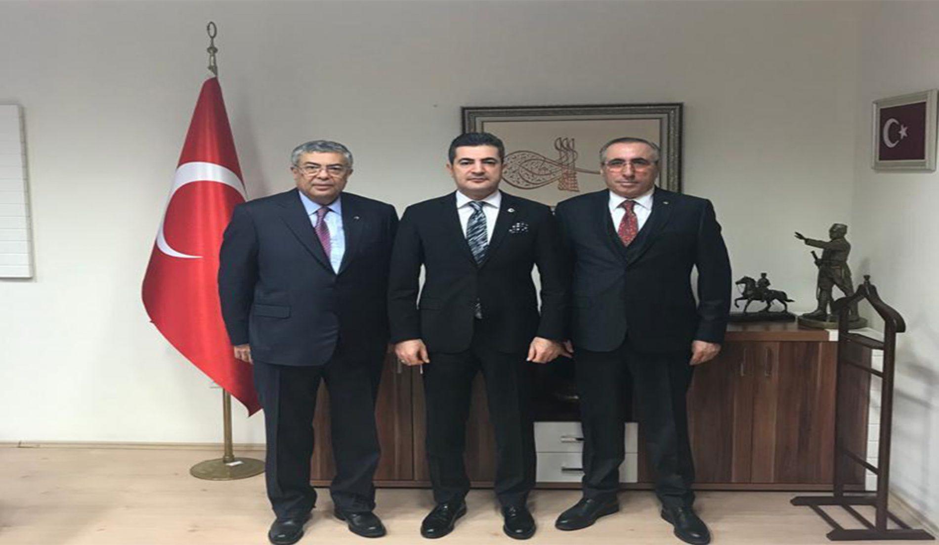 Başkanımız Yahya TOPLU ve Başkan Yardımcımız Ali ŞEREN, Ankara Cumhuriyet Başsavcısı Vekilliğine Atanan Polatlı Cumhuriyet Başsavcısı Sn Veysel KAÇMAZ'ı Makamında Ziyaret ettiler…