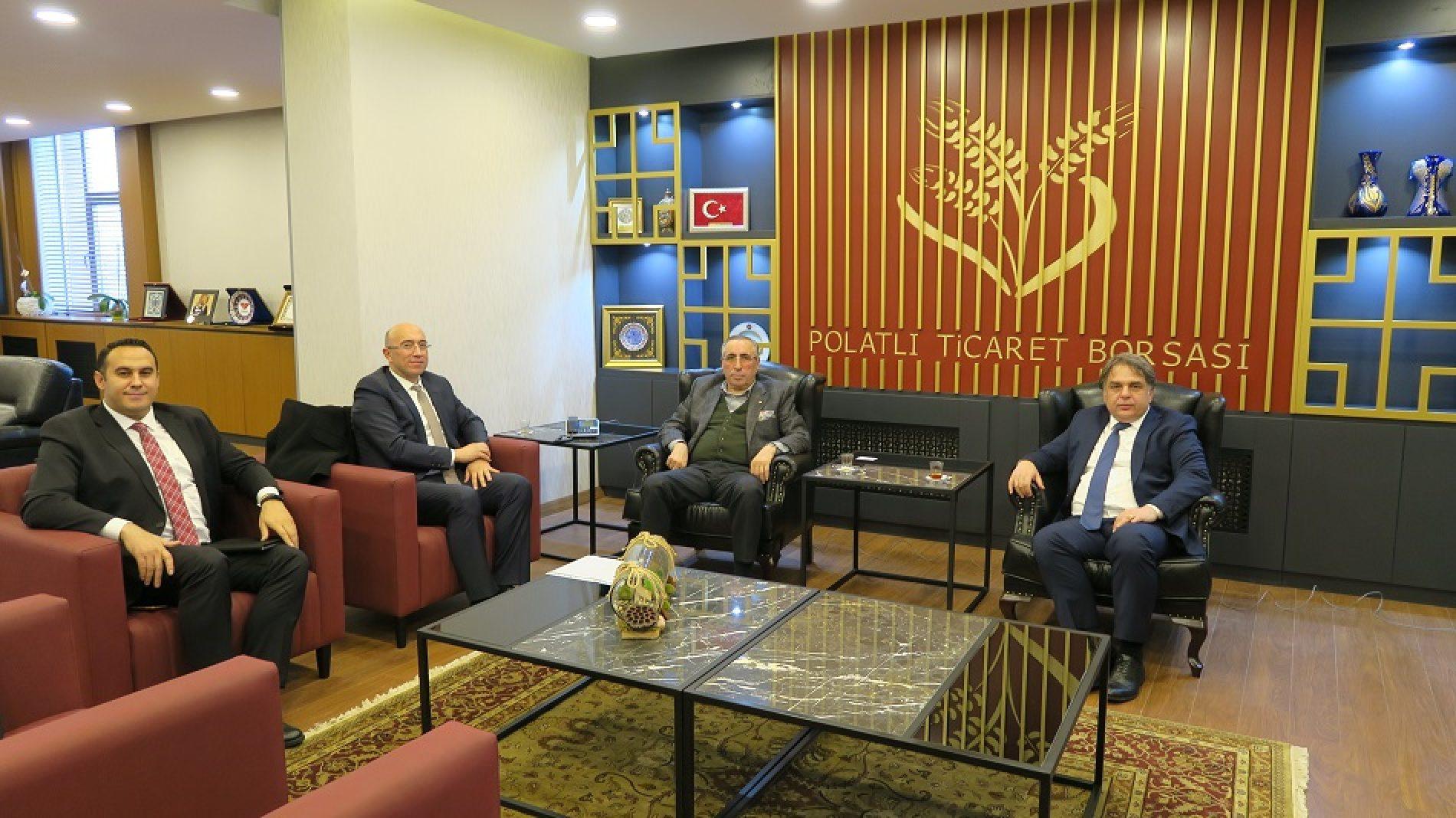 Garanti BBVA Yetkilileri Başkanımız Sn Yahya TOPLU'yu Makamında Ziyaret etti…