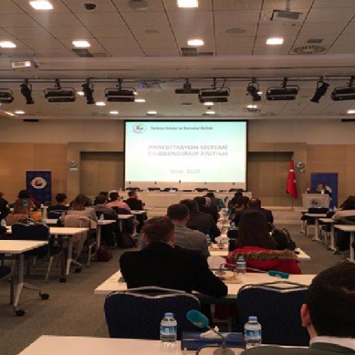 """Türkiye  Odalar ve Borsalar Birliği (TOBB)  """"Oda/Borsa Akreditasyon Sistemi Bilgilendirme Eğitimine"""" Katıldık…"""