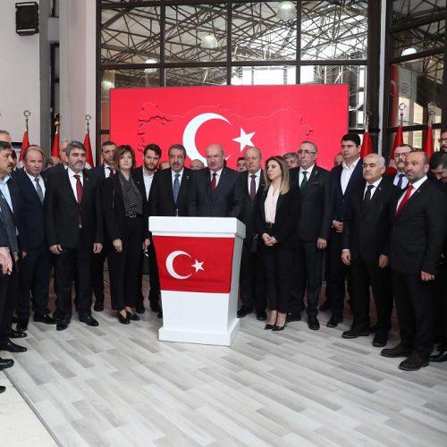 """Başkanımız Sn Yahya TOPLU Şehitlerimiz İçin Yapılan """"Basın Açıklaması"""" Törenine Katıldı…"""