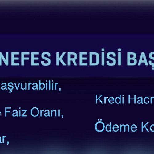 TOBB NEFES KREDİSİ BAŞLADI..
