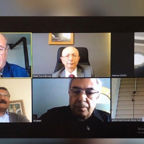 """Borsamızın Yönetim Kurulu Toplantısı """"Video Konferans Yöntemi"""" ile Gerçekleştirildi…"""