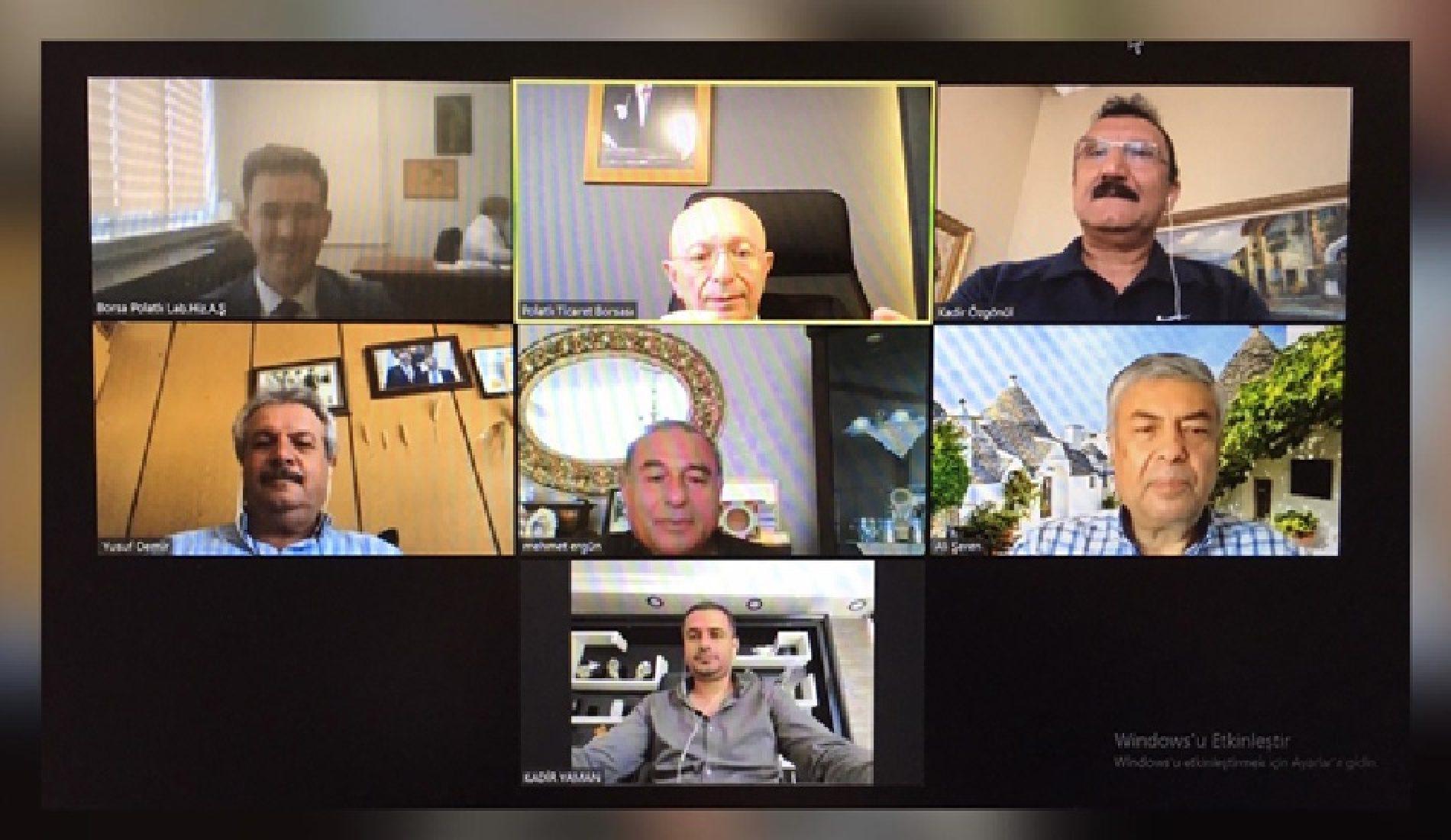 """Borsa Polatlı Laboratuvar Hizmetleri A.Ş. Yönetim Kurulu Toplantısı """"Video Konferans Yöntemi"""" ile Gerçekleştirildi…"""