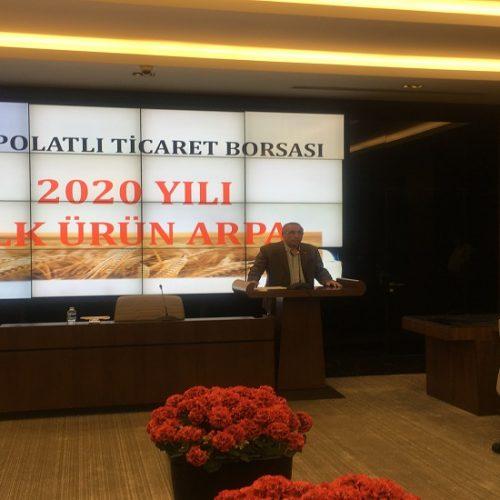 """Borsamızda 2020 Yılı Mahsulü İlk Ürün """"ARPA"""" Satışı gerçekleştirildi…"""