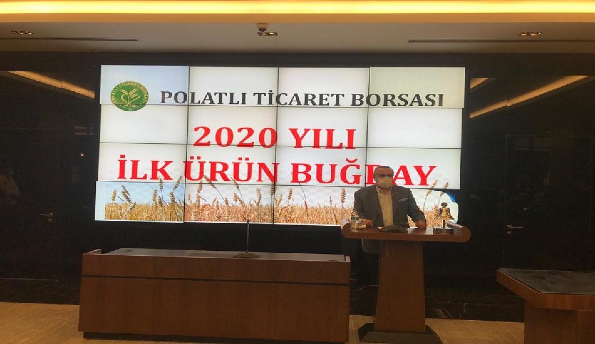 """Borsamızda 2020 Yılı Mahsulü İlk Ürün """"BUĞDAY"""" Satışı gerçekleştirildi…"""