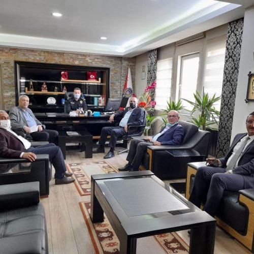 Başkanımız Sn Yahya TOPLU ve Yönetim Kurulu Üyeleri İlçe Emniyet Müdürü Sn Şener DERİN'i Makamında ziyaret ettiler…