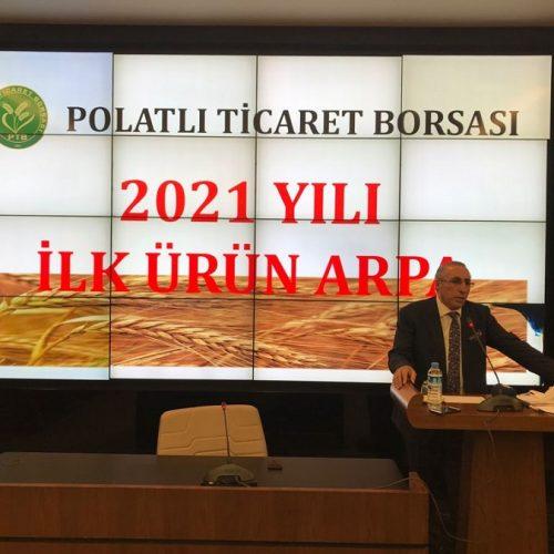 """Borsamızda 2021 Yılı Mahsulü İlk Ürün """"ARPA"""" Satışı gerçekleştirildi…"""