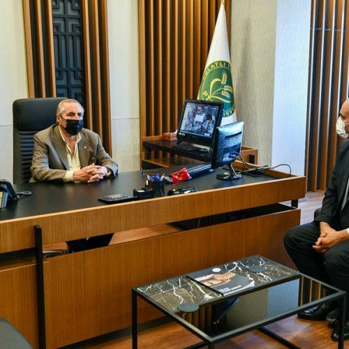 Ankara Büyükşehir Belediyesi Sivil Toplum Kuruluşları Şube Müdürü Sn Önder YANMAZ Başkanımız Sn Yahya TOPLU'yu Makamında Ziyaret etti…