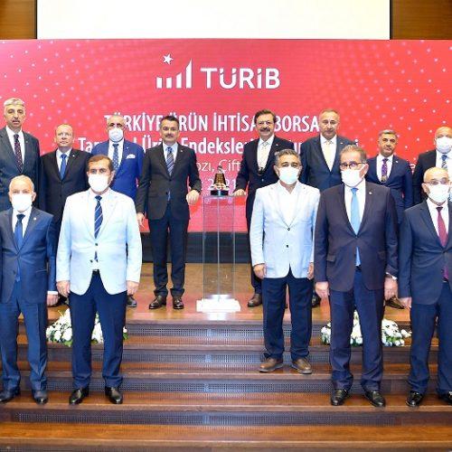 """Başkanımız Sn Yahya TOPLU Türkiye Ürün İhtisas Borsası (TÜRİB) """"Tarımsal Ürün Endeksleri Tanıtım Törenine""""  katıldı…"""