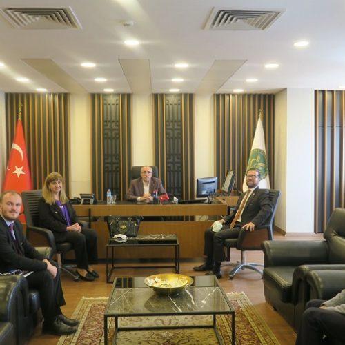 Ostim Üniversitesi Rektörü Sn Prof. Dr. Murat Ali YÜLEK ve Beraberindeki Heyet Borsamızı ziyaret etti…