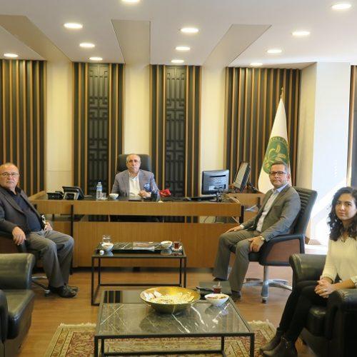 VakıfBank Yetkilileri Başkanımız Sn Yahya TOPLU'yu makamında ziyaret etti…
