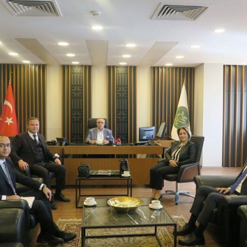 Ziraat Bankası Ankara Bölge Müdürlüğü Yetkilileri Başkanımız Sn Yahya TOPLU'yu Makamında Ziyaret Etti…